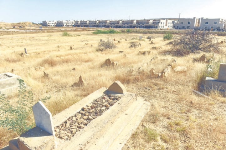 THE graveyard, which extends to the new township in phase III of Bahria Town. —Fahim Siddiqi / White Star