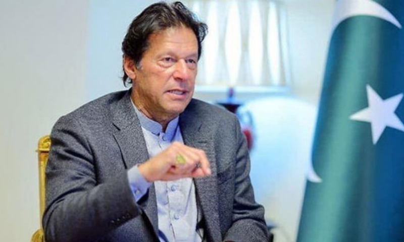 PM Imran Khan gestures during an interview. — APP/File