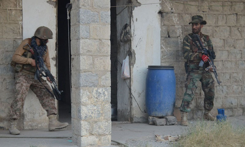 Two terrorists were killed while another was injured during an intelligence-based operation in Nargosa area of South Waziristan. — Photo courtesy ISPR/File