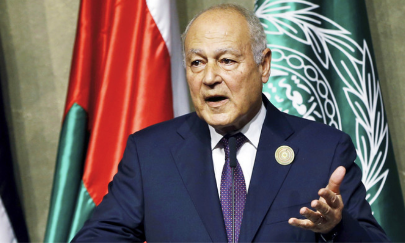 "Arab League Secretary-General Ahmed Aboul Gheit says two-state solution to Palestinian-Israeli conflict has been ""marginalised by the main mediator"", referring to the United States. — AP"