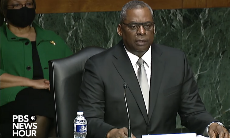 Gen Lloyd Austin gives his opening statement before the US Senate Armed Services Committee during his confirmation hearing for the post of Secretary of Defence. — Photo courtesy: PBS News Hour