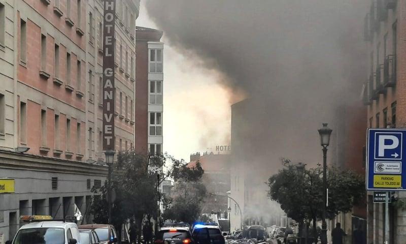 اسپین: وسطی میڈرڈ میں عمارت دھماکے کے بعد منہدم، 2 افراد ہلاک