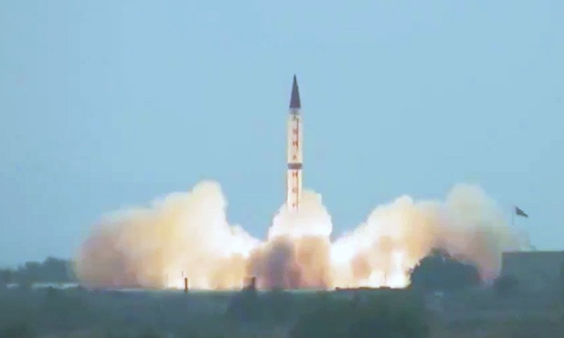 Shaheen-III is a surface-to-surface ballistic missile with a range of 2,750 kilometres. — Photo courtesy ISPR