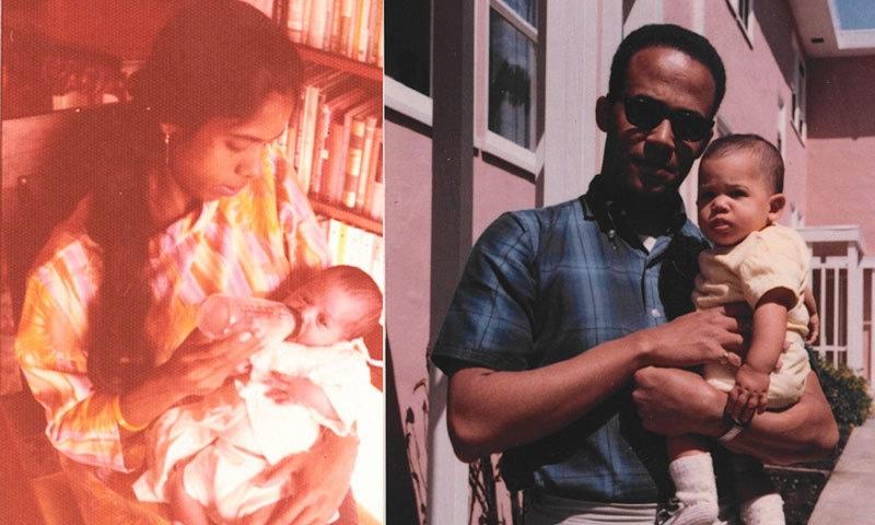 کمالا ہیرس کی والدہ بھارتی اور والد جمیکین تھے—فوٹو: کمالا ہیرس/ ویا لاس اینجلس ٹائمز