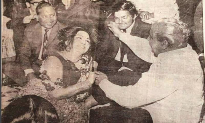 Fanboy. Yahya Khan with Madam Noor Jehan   Dawn file photo