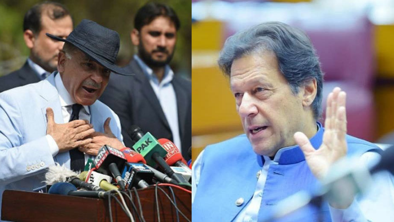 The defamation suit filed in 2017 states that Prime Minister Imran Khan (right) started uttering false and malicious statements against Shehbaz Sharif (left). — Photos PM Instagram/File