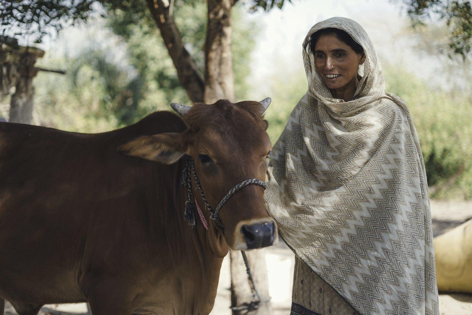 Rizwana Solangi, a farmer, in her village Qasim Solangi, district Hyderabad. — Photo by Manoj Genani