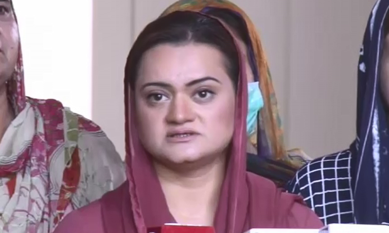 """""""Three PTI leaders came to the opposition leader's chamber and invited the opposition for talks to shun differences for at least smooth running of parliamentary business,"""" said PML-N information secretary Marriyum Aurangzeb. — DawnNewsTV/File"""