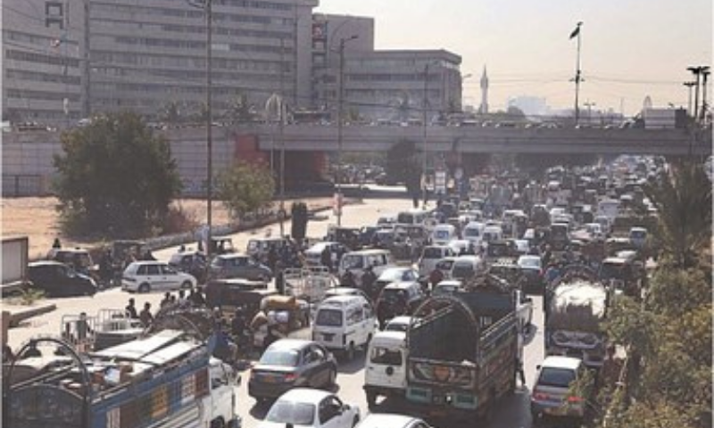 HASAN Square sees logjam due to the security arrangements on Friday.—PPI
