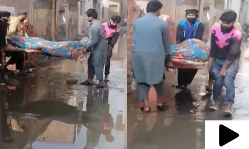 اوکاڑہ میں لوگ جنازے گندے پانی سے لے کر جانے پر مجبور