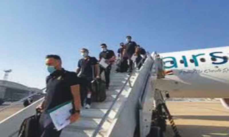 The South African cricket team touches down in Pakistan