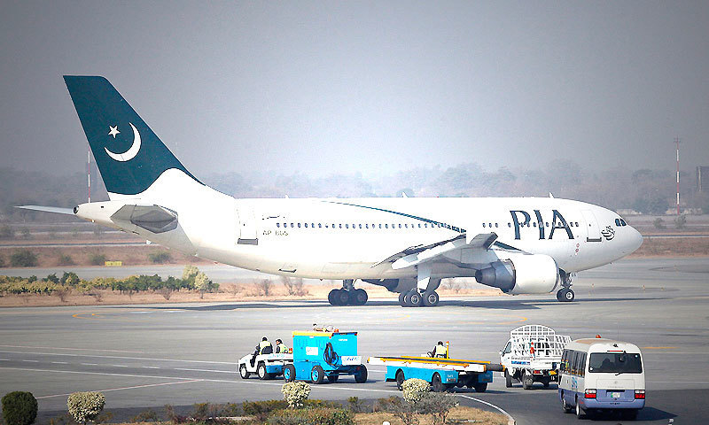 A Pakistan International Airlines (PIA) plane prepares to take off at Allama Iqbal International Airport in Lahore — Reuters/File