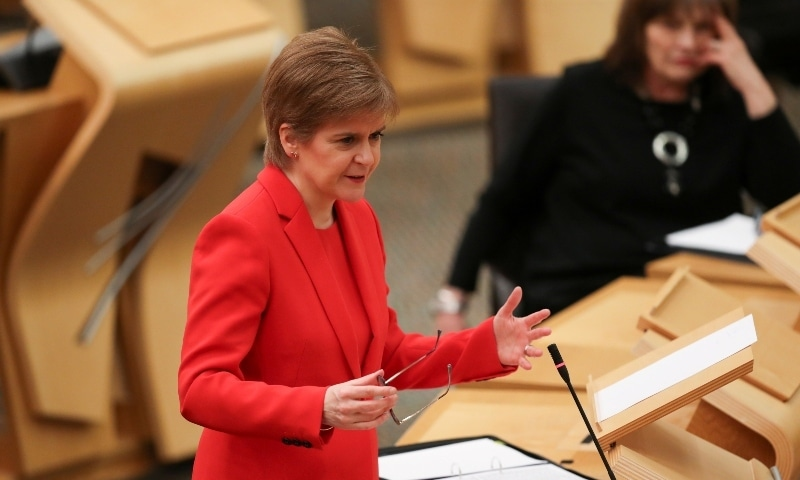 Scotland's First Minister Nicola Sturgeon accused British Prime Minister Boris Johnson on Sunday of fearing democracy. — Reuters