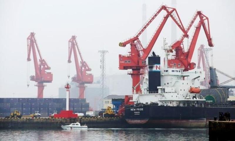 A crude oil tanker is seen at Qingdao Port, Shandong province, China, April 21, 2019. — Reuters