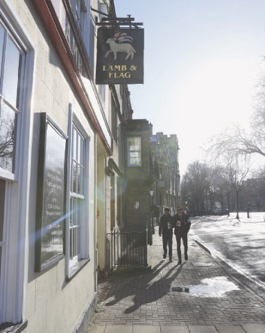A VIEW of the storied pub.—Reuters