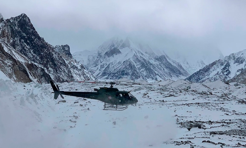 The team had managed to climb up to 6,831 meters by Monday noon when their connection with the base camp got disconnected as the GPS devices with the climbers went off. — AFP