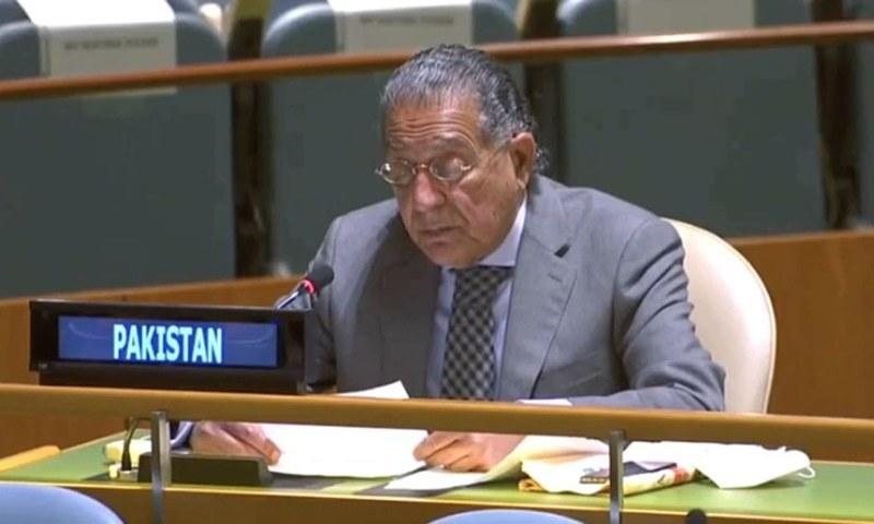 منیر اکرم نے اقوام متحدہ میں مؤقف پیش کیا—فائل فوٹو: بشکریہ ریڈیو پاکستان