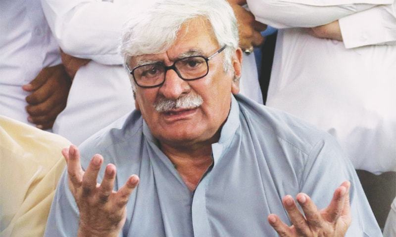 ANP central president Asfandyar Wali Khan said he had reservations about the government's inquiry committee. — PPI/File