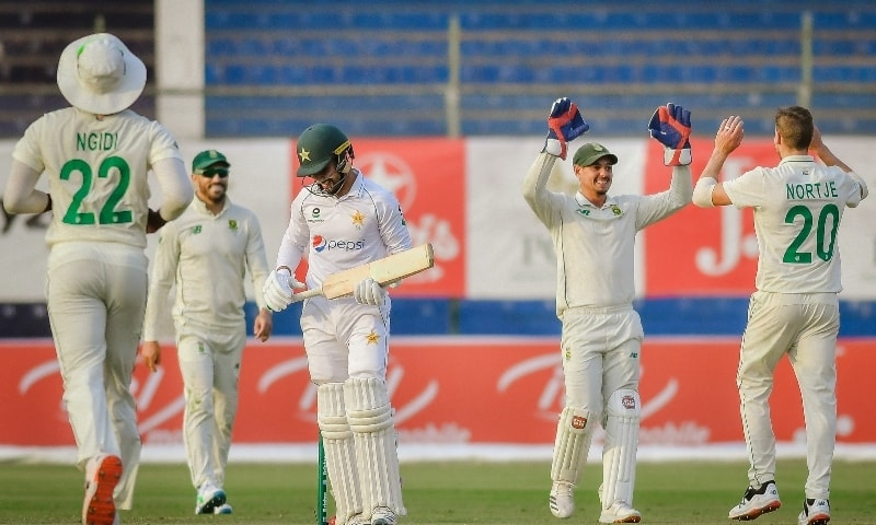 Pakistan were bowled out for 378 on the third day of the opening Test in Karachi on Thursday. — Photo courtesy: ICC Twitter