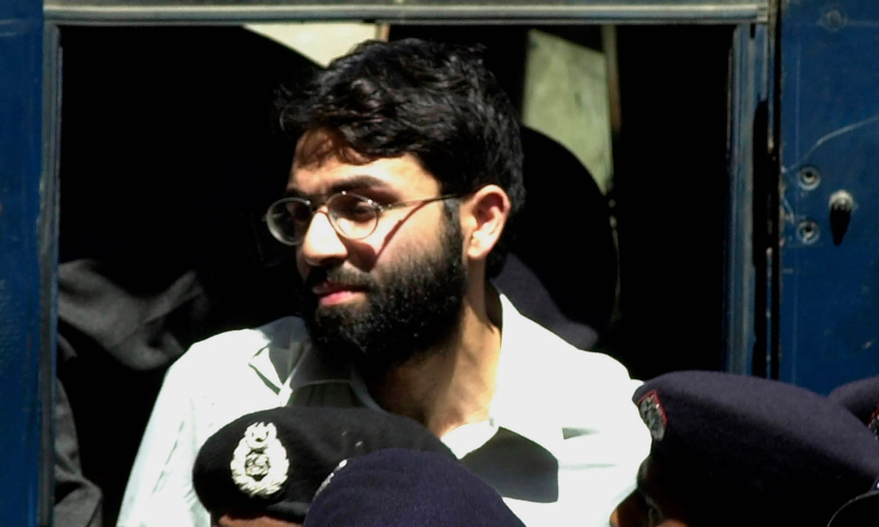 In this March 29, 2002 file photo, Ahmed Omar Saeed Sheikh, the alleged mastermind behind Wall Street Journal reporter Daniel Pearl's kidnap-slaying, appears at the court in Karachi. — AP/ File