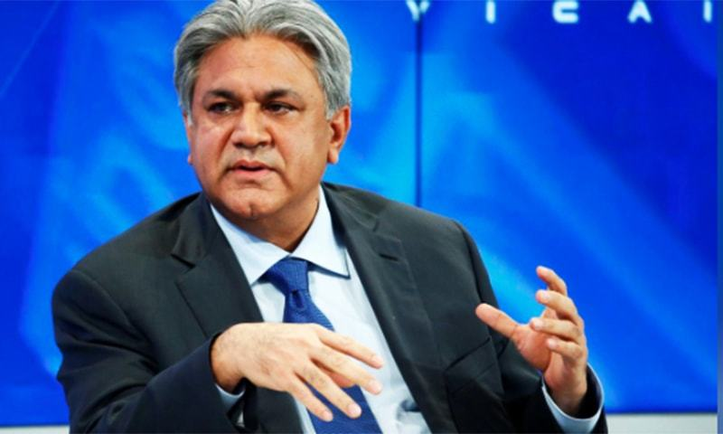 This file photo shows Abraaj founder and Chief Executive Arif Naqvi speaking at an event. — Reuters