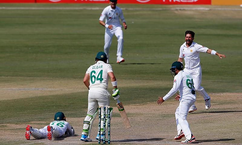 کراچی ٹیسٹ: پاکستان کی برتری ختم کرنے کے باوجود جنوبی افریقہ مشکلات سے دوچار