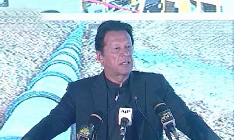 Prime Minister Imran Khan speaks at a ceremony in Sahiwal. — DawnNewsTV