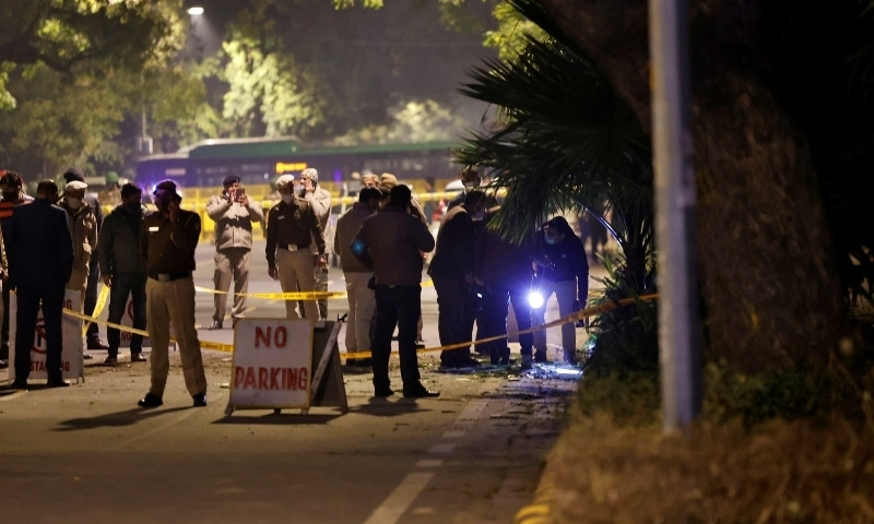 Blast outside Israeli embassy in New Delhi, say police