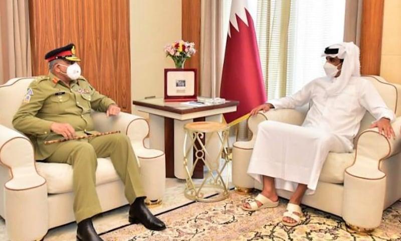 آرمی چیف کی قطری قیادت سے ملاقات، دفاعی تعلقات مزید مستحکم بنانے پر اتفاق