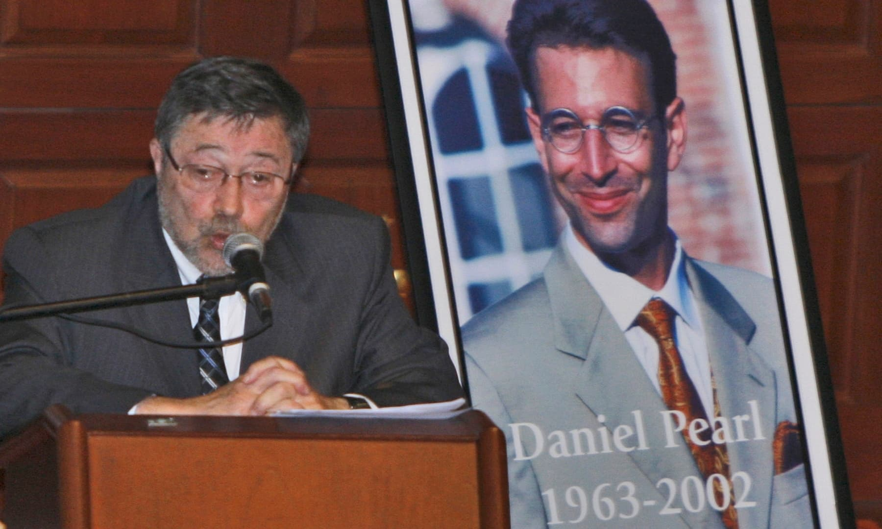 In this April 15, 2007, file photo, Dr Judea Pearl, father of American journalist Daniel Pearl, speaks in Miami Beach, Florida. — AP