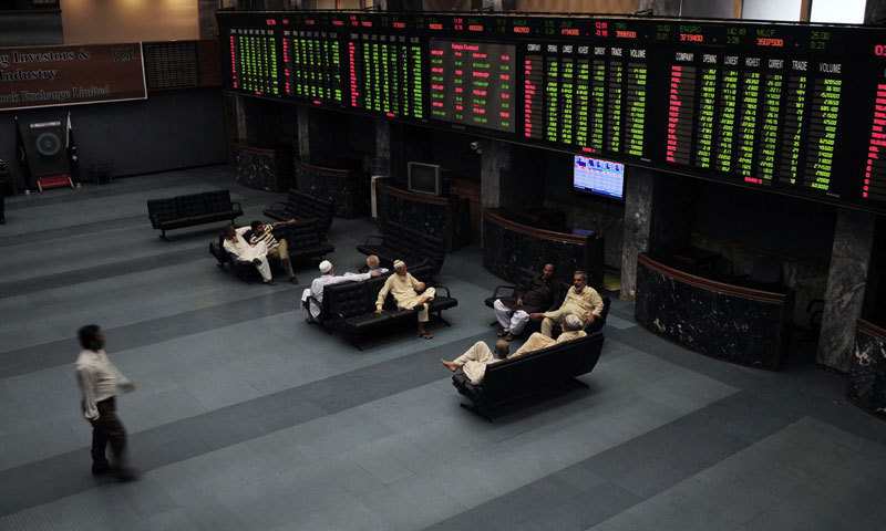 The KSE-100 index stormed past the 46,000 points resistance and settled at 46,386 points to record gains of 518 points, or 1.1 per cent, in the outgoing week. — File photo