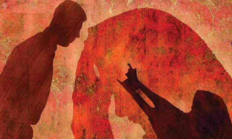 A man killed four women of his family, including his old mother, in the name of so-called honour in the Bismillah Colony, Shahkot, Nankana Sahib district, on Saturday. — Illustration by Abro/File