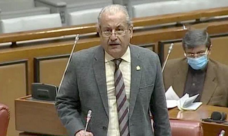 Senator Raza Rabbani offered the sole dissenting opinion against the bill to make teaching Arabic compulsory. — DawnNewsTV