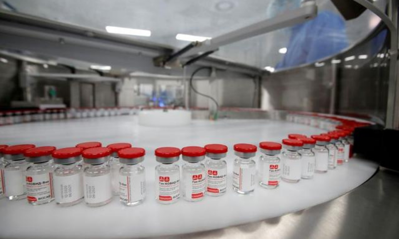 A view shows vials during the production of Gam-Covid-Vac, also known as Sputnik-V, vaccine against the coronavirus at a facility of BIOCAD biotechnology company in Saint Petersburg, Russia. — Reuters/File