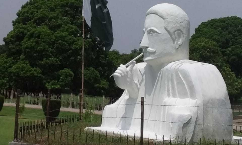 A picture of the 'original' statue that Ghulam Sibtain shared with Dawn.