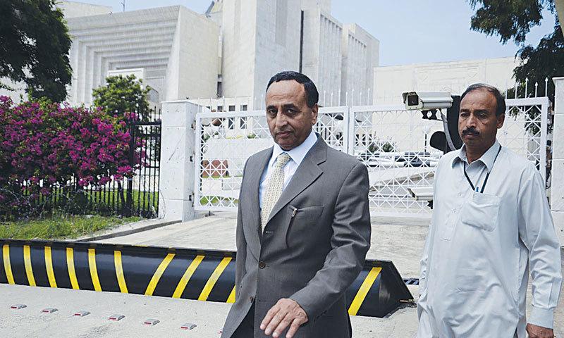This file photo shows former adviser on aviation in ex-prime minister Nawaz Sharif's government Shujaat Azeem. - INP/File