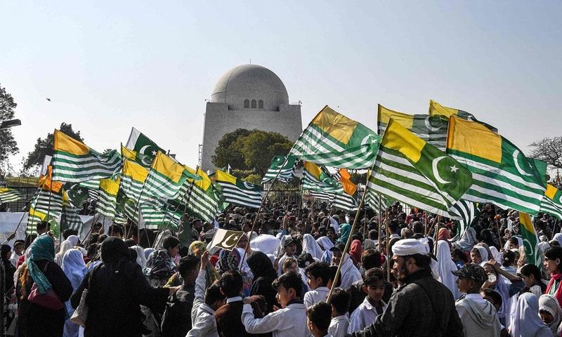 اسلام آباد، مظفر آباد، گلگت اور چاروں صوبائی دارالحکومتوں میں یکجہتی واکس کا بھی اہتمام کیا جائے گا—فائل فوٹو: اے ایف پی