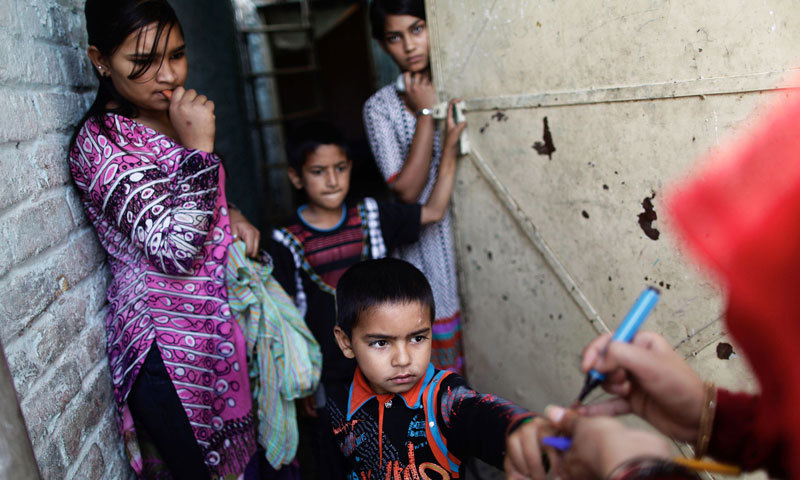 """The Independent Monitoring Board (IMB), the apex global body — has exposed the Punjab government's anti-polio eradication programme while declaring Lahore the """"epicentre of the polio transmission"""".  — File Photo"""