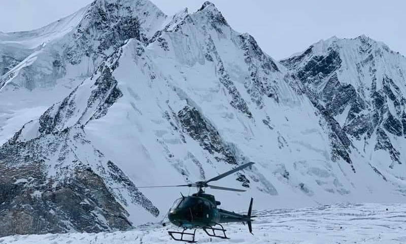 The Pakistan Army embarked on a search and rescue mission on Saturday after three climbers went missing while attempting to summit the world's second-highest mountain. — Photo courtesy author