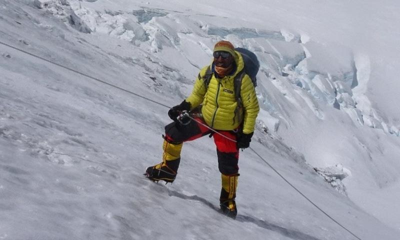This  photo shows Pakistani climber  Muhammad Ali Sadpara. — Photo courtesy Twitter