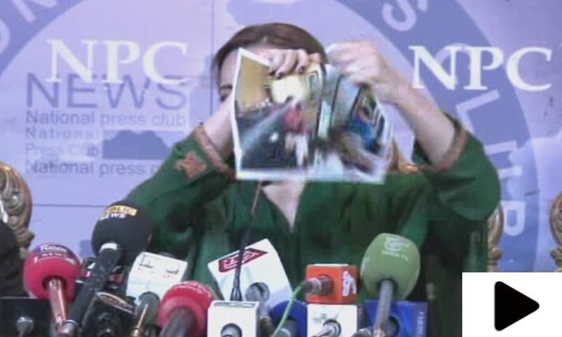 مریم اورنگزیب نے وزیراعظم اور صحافی ڈیوڈ روز کی تصویر پھاڑ دی