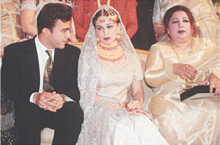 Neelo (R) at her son Shaan's wedding