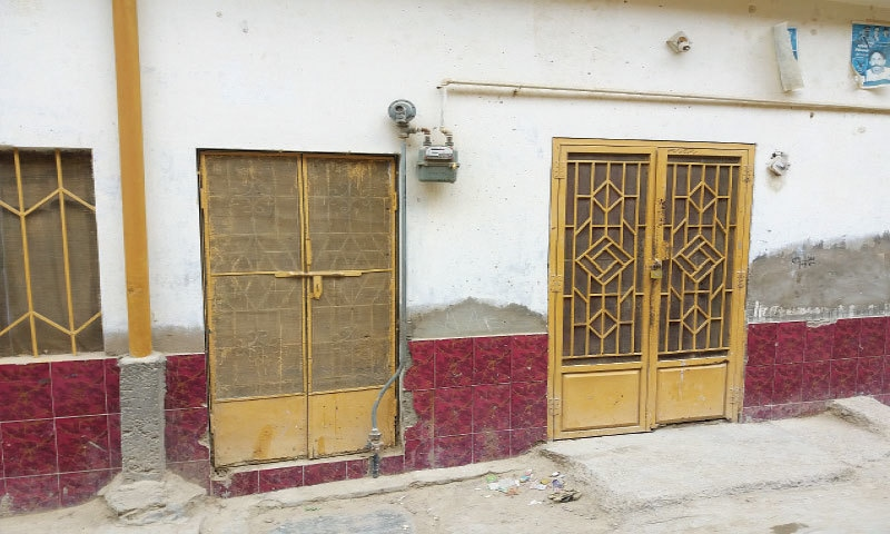 Shamma's house in Lal Colony, Quetta