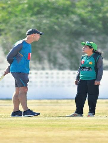 With skipper Javeria Khan   Photos courtesy: PCB