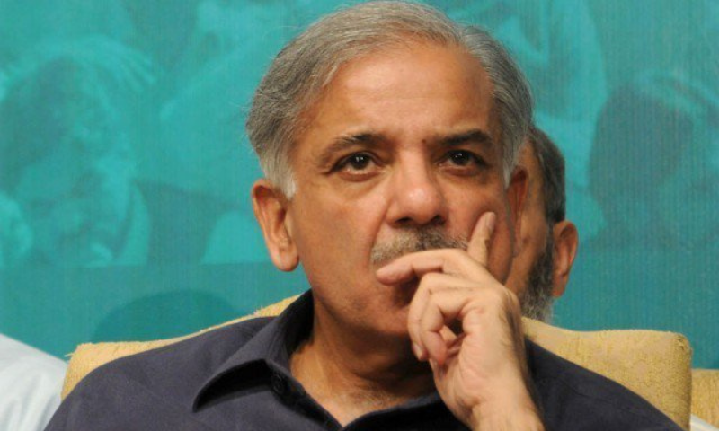 """PML-N President and Leader of the Opposition in the National Assembly Shehbaz Sharif filed a defamation claim against the """"grotesque allegation"""" in January 2020, claiming a retraction, damages and an apology. — AFP/File"""
