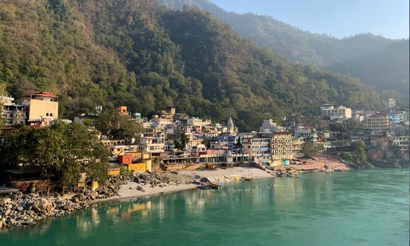 Banks of the River Ganges river wear a deserted look as people stay away as a precautionary measure in Rishikesh, India, after a portion of Nanda Devi glacier broke off in Tapovan area of the northern state of Uttarakhand on Feb 7. — AP