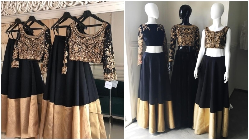 Haris Shakeel's design on the left and Zaheer Abbas's on the right