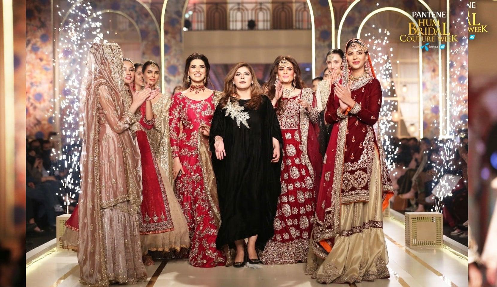 نسا حسین نے بھی دیدہ زیب عروسی ملبوسات پیش کیے