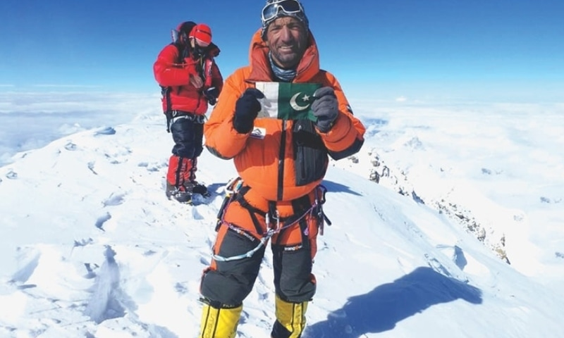 This file photo shows Pakistani climber Muhammad Ali Sadpara on top of K2. — Photo: Sadpara Facebook