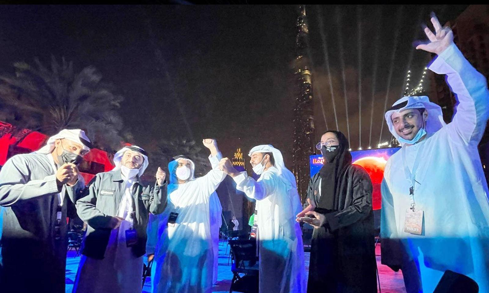 ہوپ مشین 9 فروری کو مریخ کی مدار میں داخل ہوئی تھی، جس پر امارات میں جشن منایا گیا تھا—فوٹو: خلیج ٹائمز